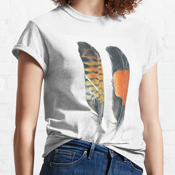 Red Tailed Black Cockatoo, vertical Classic T-Shirt