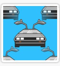 blue Delorean Sticker