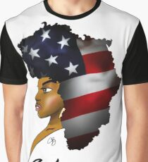 African American Woman Graphic T-Shirt