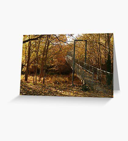 Autumn Walk Clunes Greeting Card