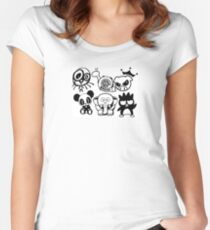 jdm panda and animals Women's Fitted Scoop T-Shirt