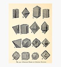 Vintage Crystal Forms Photographic Print