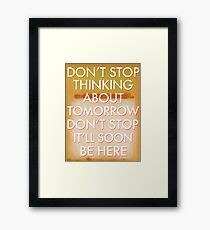 don't stop (rothko) Framed Print