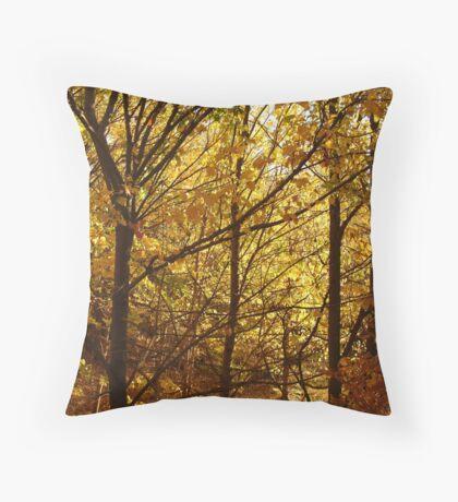 Autumn at Clunes Throw Pillow
