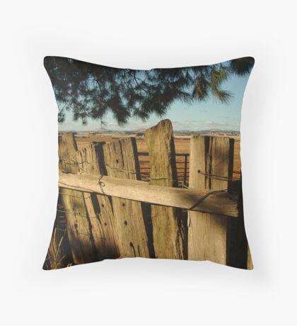 Ascot Farm Lands Throw Pillow