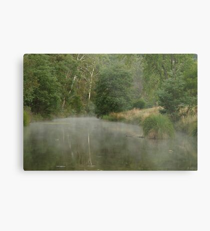 Morning Mist Crooked River High Country Metal Print