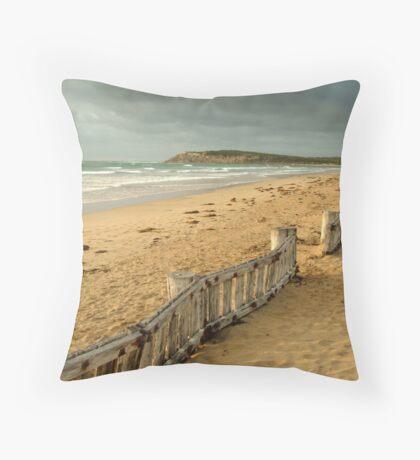 Early Morning Raaf's Beach Throw Pillow