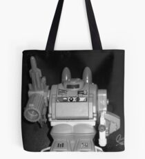 black and white of warlord Tote Bag