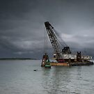 A Dredger in a Malaysian Harbour by Clare Colins