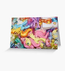 LOTS of ponies Greeting Card