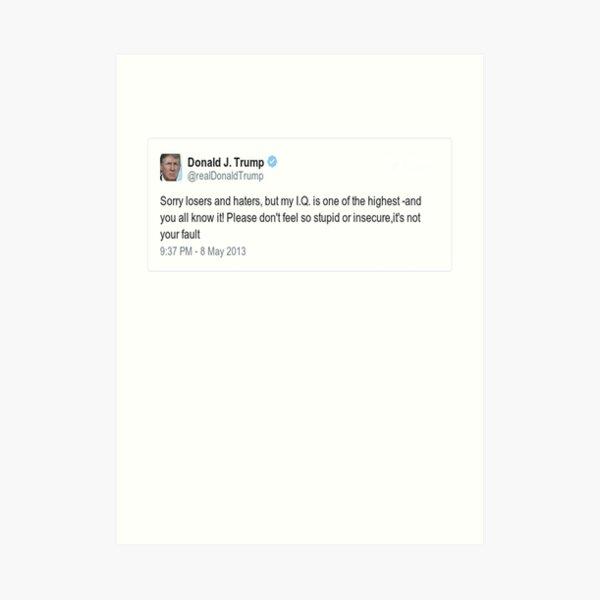 Trump Tweet Art Print