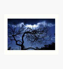 Moody Blue Art Print