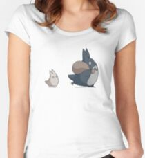 No ink - Totoro Women's Fitted Scoop T-Shirt