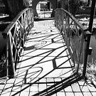 Holy Trinity Bridge Shadows B&W by Judi FitzPatrick