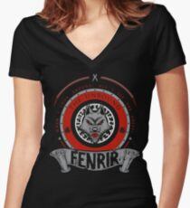 FENRIR - THE UNBOUND Women's Fitted V-Neck T-Shirt