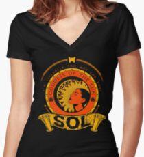 SOL - GODDESS OF THE SUN Women's Fitted V-Neck T-Shirt