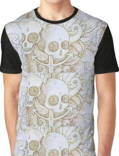skull in the ocean sketch Graphic T-Shirt