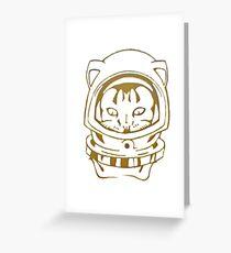 OLD SCHOOL SPACE CAT SMARTPHONE CASE (Graffiti) Greeting Card