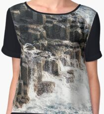 shoreline pillars of jeju Women's Chiffon Top
