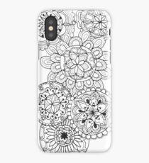 Mandala zentangle black and white cute pretty doodle iPhone Case/Skin