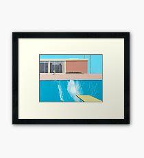 """David Hockney """"A Bigger Splash"""" Framed Print"""