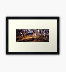 JB Plains Hut - Dinner Plain - Victoria Framed Print