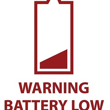 Warning Battery Low  - Red by SugarSniper