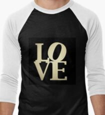 Love Park Philadelphia Sign Men's Baseball ¾ T-Shirt