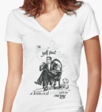 Mr Barrow's Tea Time Women's Fitted V-Neck T-Shirt