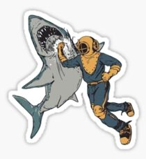 Shark punch Sticker