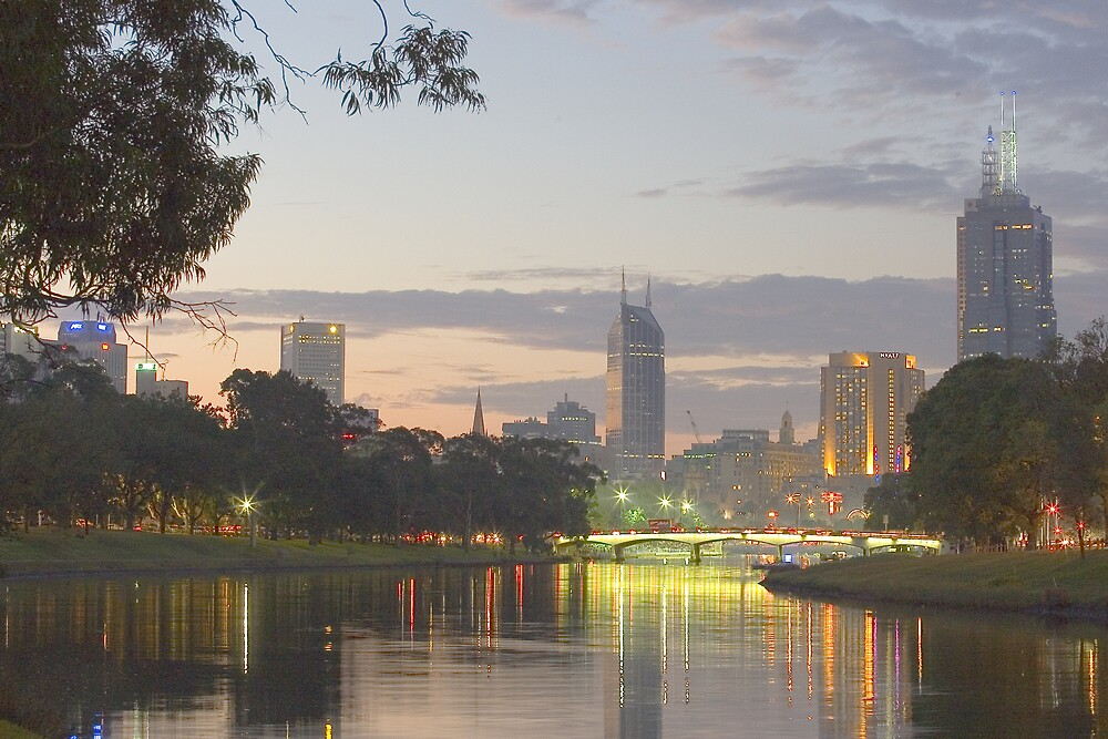 Evening on the Yarra by RedChevy