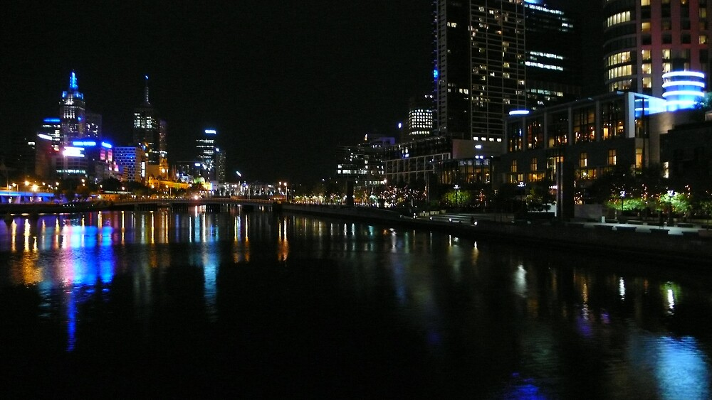 Melbourne at night by leet