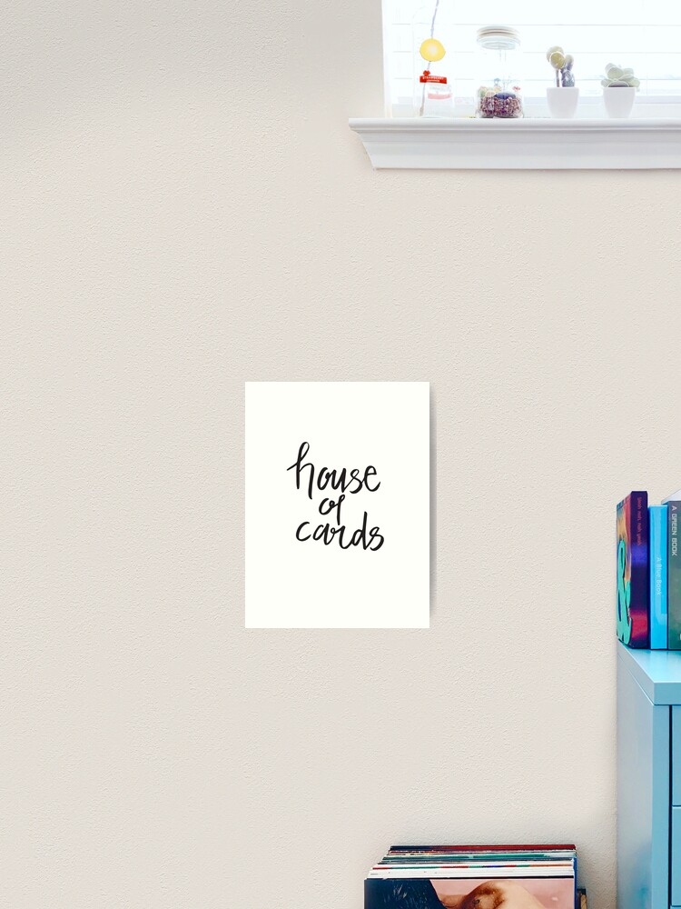 Bts House Of Cards Art Print By Graysonly Redbubble