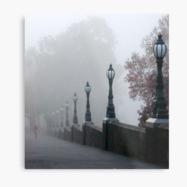 Foggy Melbourne  Metal Print