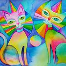 Rainbow Pussies by Karin Zeller