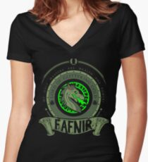 FAFNIR - LORD OF GLITTERING GOLD Women's Fitted V-Neck T-Shirt