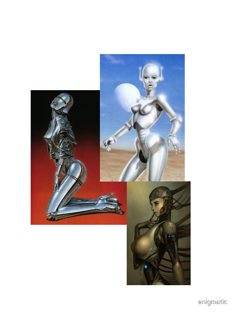 Female robots of various types by enigmatic