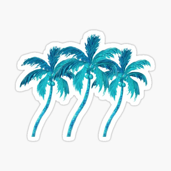 Three Coconut Palm Trees Sticker
