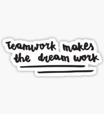 bts - teamwork makes the dream work Sticker