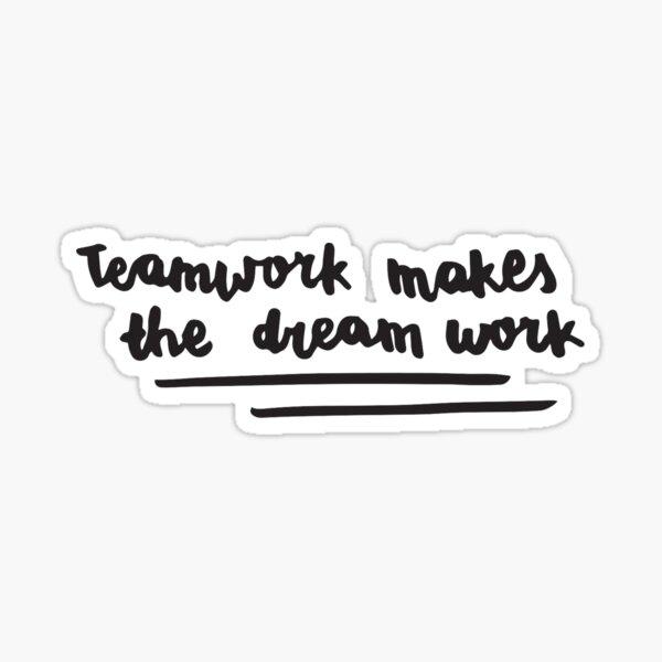 BTS - El trabajo en equipo hace que la caligrafía del trabajo soñado Pegatina