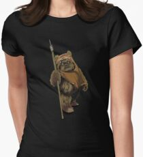 Lone ewok Women's Fitted T-Shirt