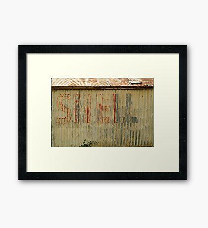 Old Workshop,Shell Signage Framed Print
