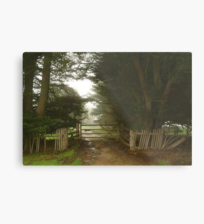 Farm Entrance Metal Print