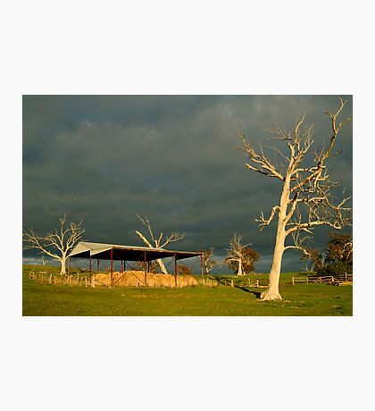 Sunrise Storm Clouds Rowsley Valley Photographic Print