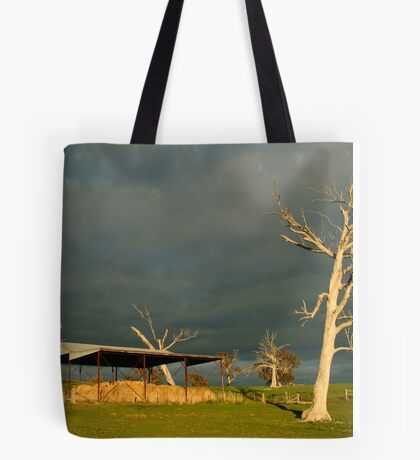 Sunrise Storm Clouds Rowsley Valley Tote Bag