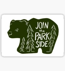 Join The Park Side Bear Sticker