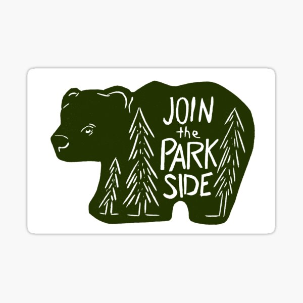 Join The Park Side Bear Sticker