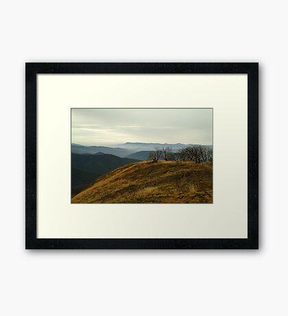 Top of Mt Blue Rag,High Country Framed Print