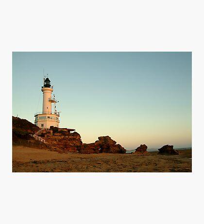 Dusk Pt Lonsdale Lighthouse Photographic Print
