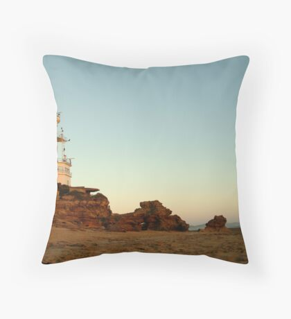 Dusk Pt Lonsdale Lighthouse Throw Pillow